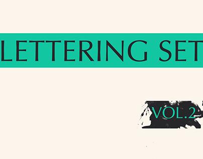 Lettering set. Vol. 2