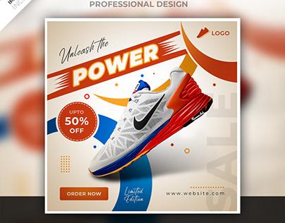Shoe social media post design