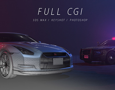 Full CGI project | Nissan GTR and Police vehicle