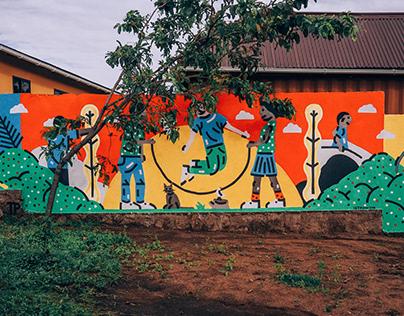 Playground Wall in Tanzania / Murals