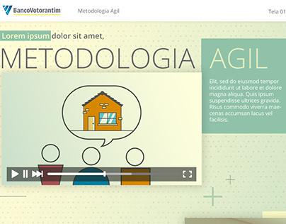 Proposta visual Banco Votorantim - Treinamento on-line