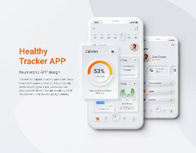 Healthy tracker app design