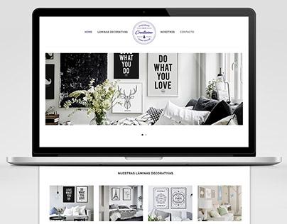 Diseño web tienda láminas