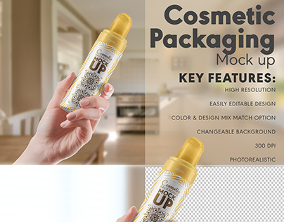 Cosmetic packaging mock up Free Psd
