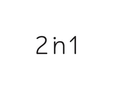 2 in 1 line logo