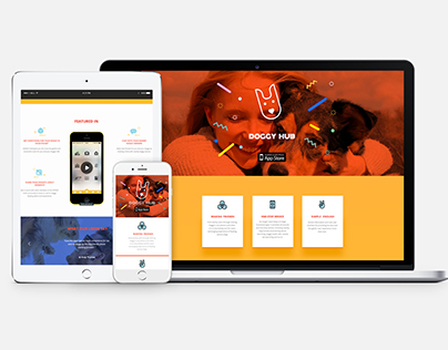 Adaptive One-page Web Design for Doggy Hub App