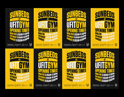 Ufit Gym Sunbed Posters