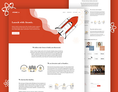 Landing Page Design For Venture Capital Firm