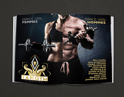 Advertising for a fitness club