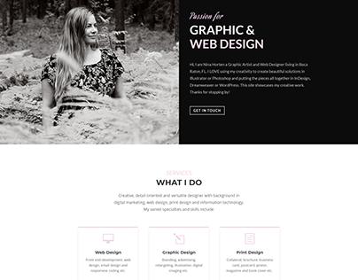 Graphic and Web Designer website/portfolio