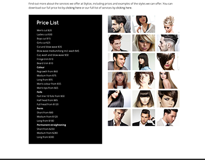 Responsive Website Design, Stylize Hair Salon Australia