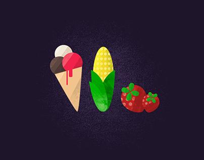 FRUIT ICONS | Illustration