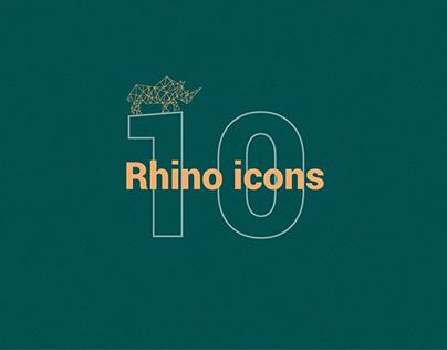 10 Rhino icons