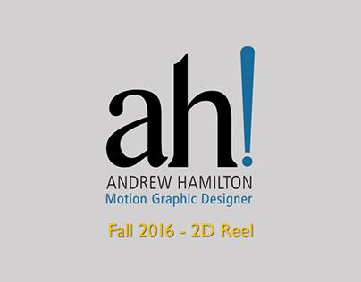 Fall 2016 - 2D Reel