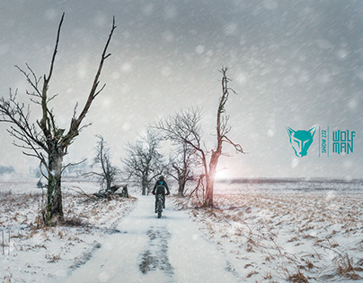 CYCLING SNOW BIKEPACKING WOLFMAN MAKING ROUTE