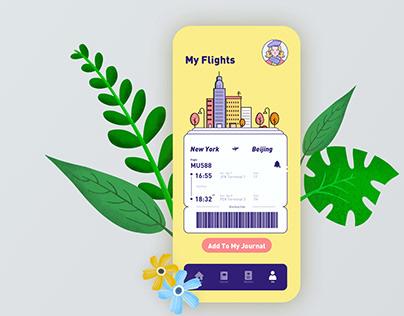 Daily UI Challenge 09 - Flight Management