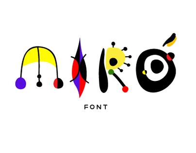 MIRÓ Font