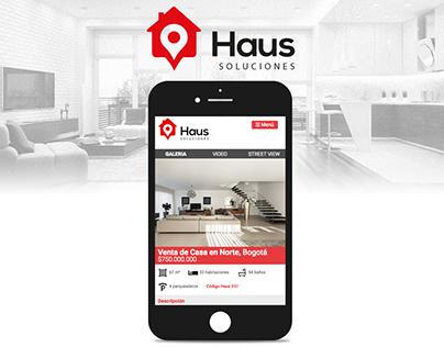 HAUS SOLUCIONES - Aplicación web inmobiliaria