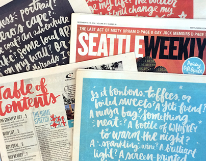Seattle Weekly: Christmas 2014 Gift Guide Covers