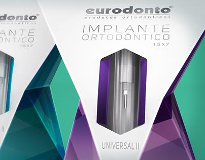Orthodontic implant packaging, for Eurodonto.