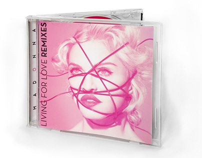 CD Design: Madonna - Living For Love Remixes EP