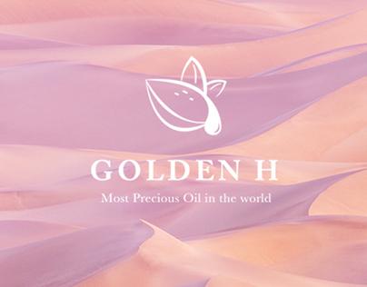 Golden H Argan Oil Logo and Packaging