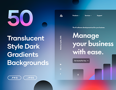 50 Translucent Style Dark Gradients - PNG