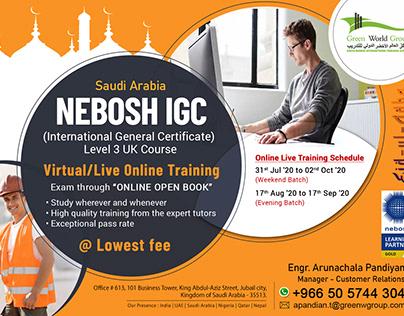 Is Studying NEBOSH in Saudi Arabia Online useful?