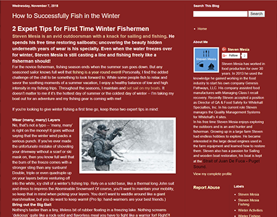 How to Fish in the Winter - Steven Mesia (Blogspot)