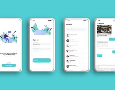Aqua Blue Chat App