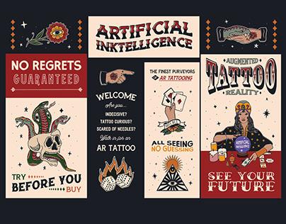 Tattoo Parlour Branding for TCO London & 99 Designs