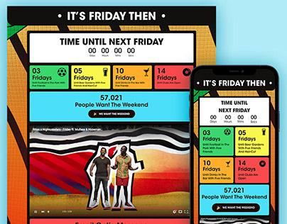 Riton X Nightcrawlers - Friday (Splash Page Design)