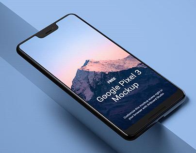 Free Google Pixel 3 Mockup