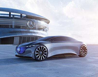 Mercedes Vision EQS | CGI