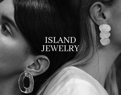 ISLAND JEWELRY. Landing page