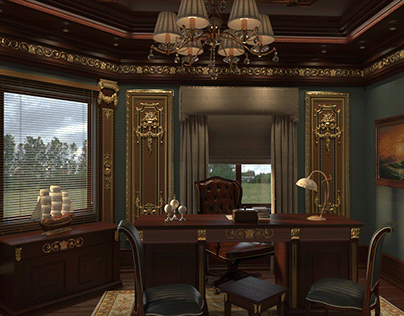 classic office ,interior design