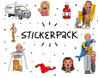 Two stickerpacks for delivery service