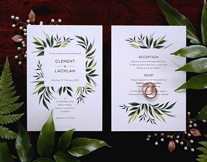 Greenery Wedding Invites