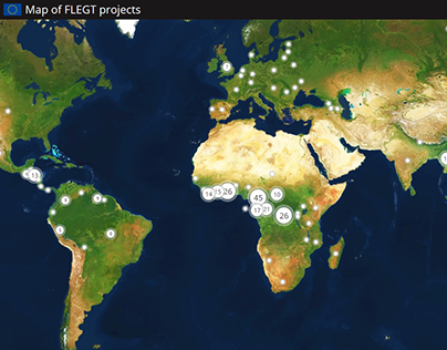Map of FLEGT projects