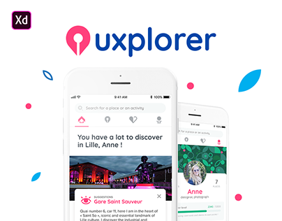 Uxplorer - Discover amazing places app (#IconContestXD)