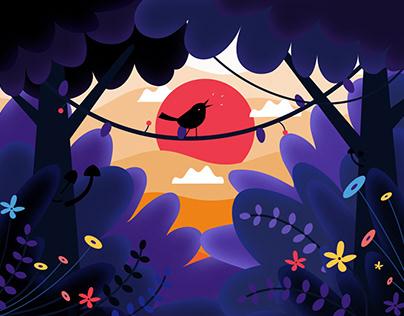 Expressive Bird 2D Animation