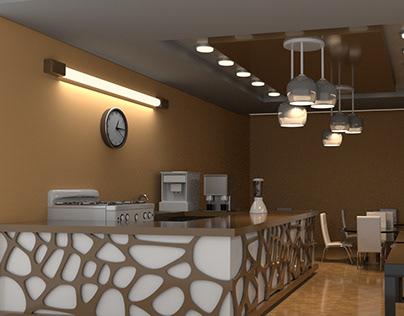 small cafe interior design