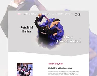 Webové stránky pro taneční kurzy Brno