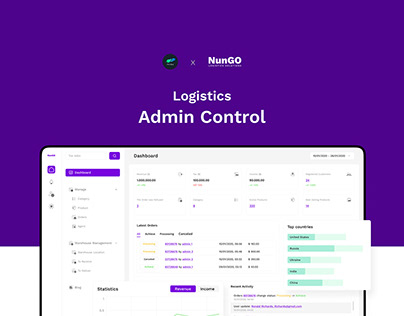 Nungo Logistics Admin Control - Web App