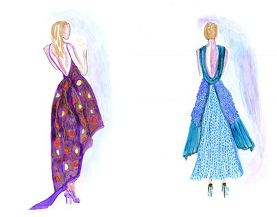 Fashion Illustration, Textures, and Patters Development