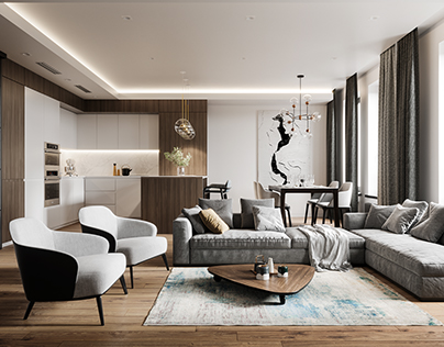 Apartment in minimalist style