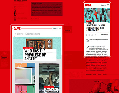 DAME - Amplifying the Impact of a Digital Magazine