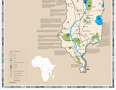 Malawi map with tourism information, history and facts