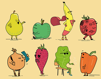 Fruits and Veggies Satire