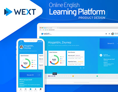 Wext | Online English Learning Platform Product Design